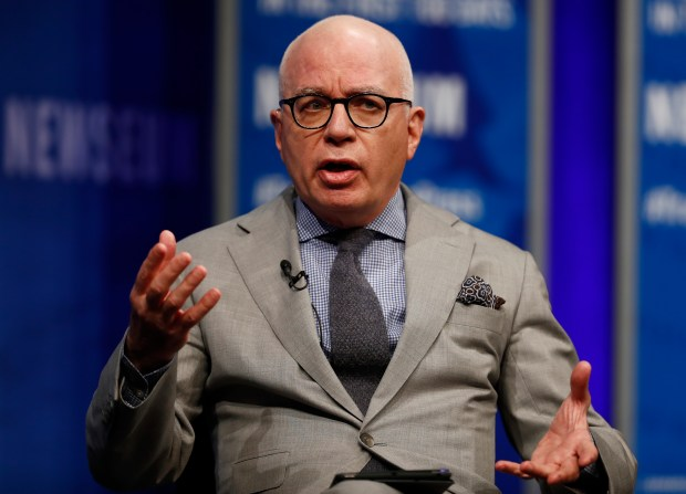 "Michael Wolff, seen here at the Newseum in Washington in April 2017, comes to Los Angeles on April 14, 2018 to talk about his book, ""Fire and Fury: Inside the Trump White House.""(AP Photo/Carolyn Kaster, File)"