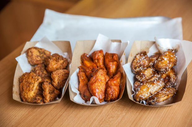 Buffalo's Cafe wings come with a wide choice of sauces.
