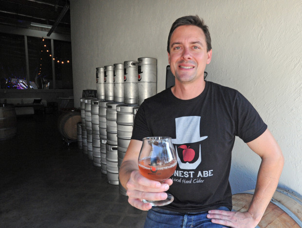 Spencer Chambers has opened Honest Abe Cidery which features hard ciders and meads.Thursday, August 04, 2016, Carson, CA. Photo by Steve McCrank/Staff Photographer