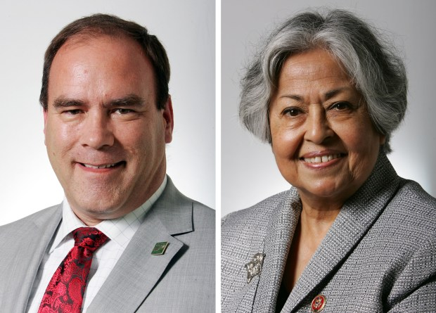 Curt Hagman and Gloria Negrete-McLeod will run against each other for the second election in a row for the 4th District seat on the San Bernardino County Board of Supervisors. (File photos)