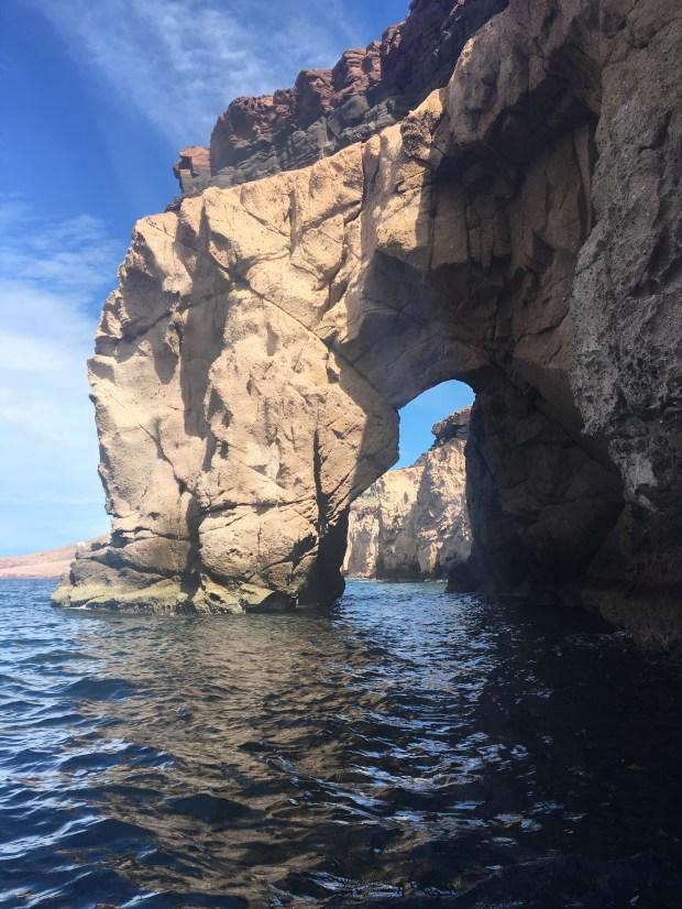 Arch on Isla Partida, part of the Espiritu Santo national park in Baja California Sur Mexico. Photo by Marla Jo Fisher, Feb. 2018.