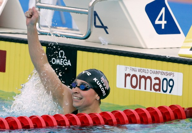 World champion swimmer Ariana Kukors said coach Sean Hutchinson sexually abused her. (AP Photo/Gregorio Borgia)
