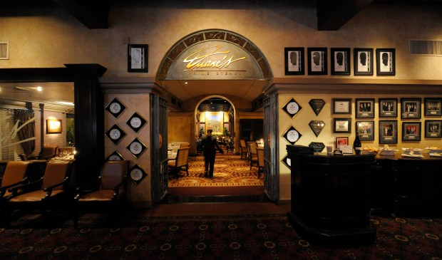 Duane's Prime Steaks and Seafood Restaurant is located inside the Mission Inn in Riverside.