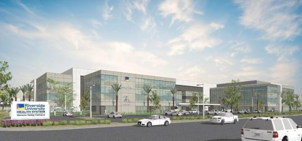 An artist's rendition of a 200,000-square-foot medical office building planned for outside Riverside University Health System - Medical Center in Moreno Valley. (Courtesy of Riverside County)