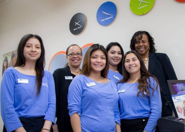These John Muir High students run the on-campus credit union. (Courtesy photo)