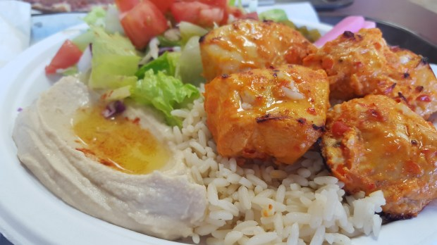The chicken kabob plate at Sultan Bakery and Grill in Murrieta. (File photo)