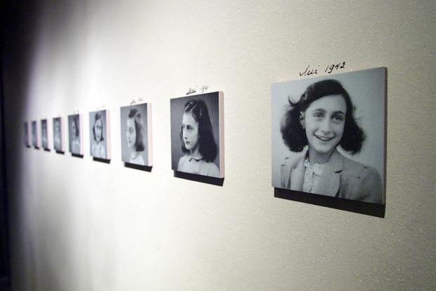 The Anne Frank exhibit opened June 11, 2003, at the United States Holocaust Memorial Museum in Washington, D.C. (Photo by TIM SLOAN/AFP/Getty Images)