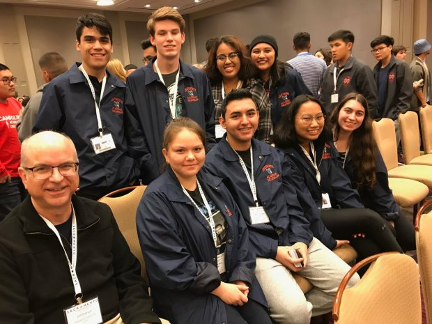 Chatsworth Charter High's Academic Decathlon team is among those going to the California Academic Decathlon competition in Sacramento. (Photo courtesy of Monica Carazo via Twitter)