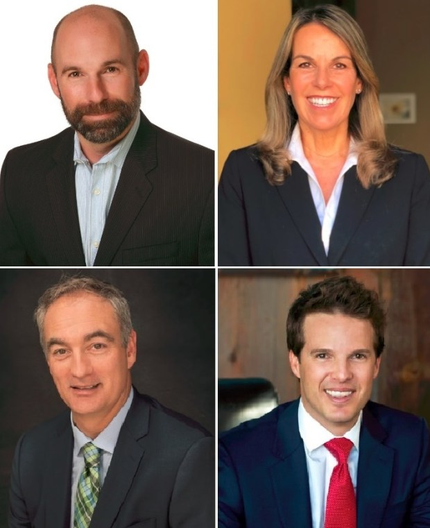 El Segundo City Council candidates top, from left: Chris Pimentel, Maria Barden. Bottom, from left: Lance Giroux, Scot Nicol. Courtesy photos.