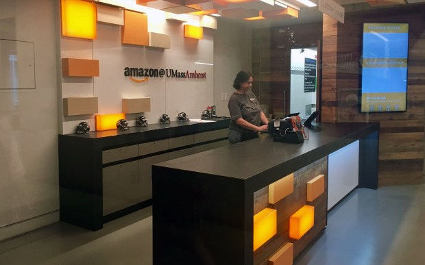 Amazon has opened pick-up stores in college communities around the nation including UC Berkeley, UC Santa Barbara, the University of Massachusetts at Amherst and Purdue University. (File photo: Nancy Luna, Orange County Register)