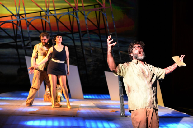 The Invention of Morel at the Long Beach Opera performance. (Photos by Kip Polakoff)