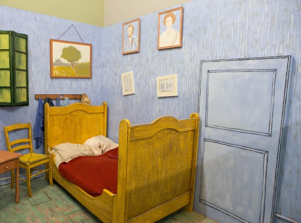 Take a selfie inside this recreation of Vincent Van Gogh's bedroom. (Photo by Tiffany Rose Photography)
