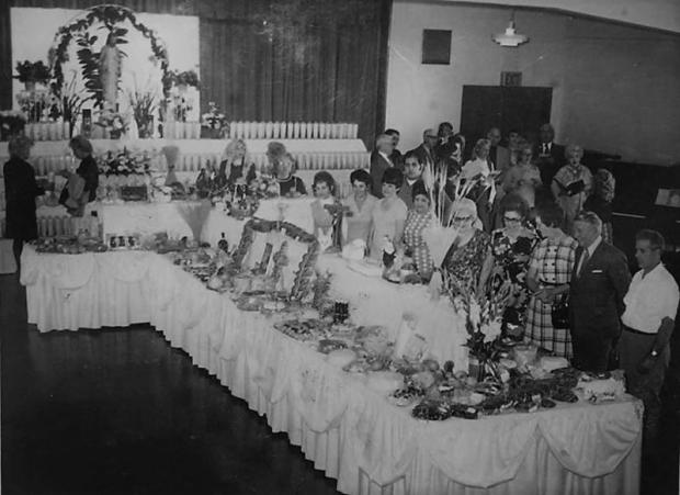 Italian Catholics all over the San Gabriel Valley will decorate cross-shaped St. Joseph's Tables at homes and churches on the weekend of March 17 and 18, in honor of their patron saint. This is a local St. Joseph's Table from the 1960s. (Courtesy photo)