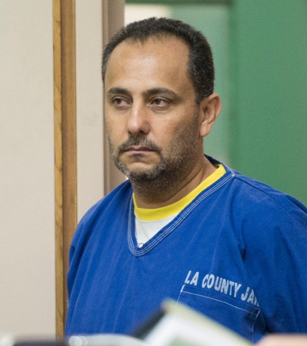 Morrad Ghonim, 42, who is charged with the 1992 murder for hire of his wife in La Mirada, pleads not guilty during his arraignment at Downey Superior Court on Friday June 5, 2015. (File photo by Keith Durflinger, Whittier Daily News/SCNG)