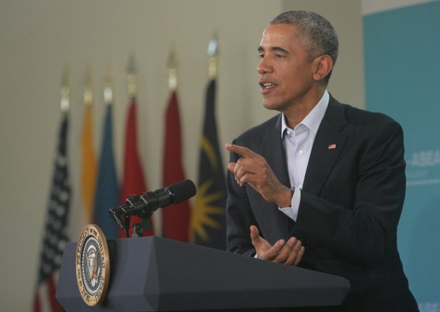 Then-President Barack Obama speaks at a news conference at the ASEAN summit in Rancho Mirage in this 2016 file photo (File photo by Stan Lim, The Press-Enterprise/SCNG).