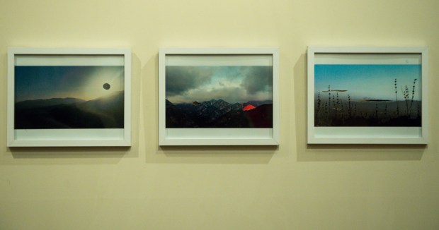 "Samantha Salomon's ""Notes from Nature"" hangs in The Chaparral Project: San Gabriel Mountains art exhibit at Patagonia Pasadena on Wednesday, Feb. 28, 2018. The opening is March 2 at 7 pm. (Photo by Sarah Reingewirtz, Pasadena Star-News/SCNG)"