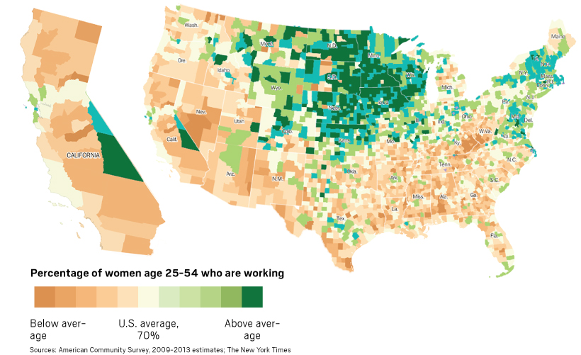 percentage of women workers