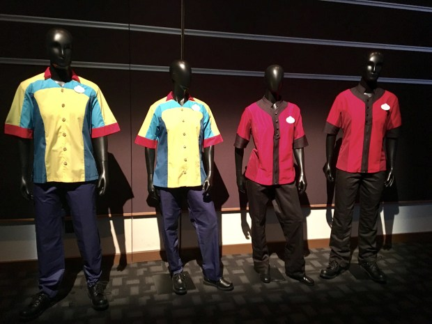 New cast uniforms designed for the Pixar Pier development at Disney California Adventure in Anaheim, as of March 8, 2018. The pier is still under construction. Photo by Marla Jo Fisher, the Orange County Register.