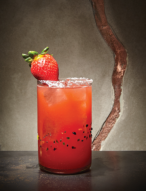 Strawberry margarita at Puesto Park Place in Irvine
