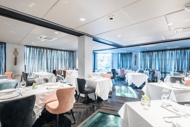 The newly renovated Crustacean Beverly Hills dining room.