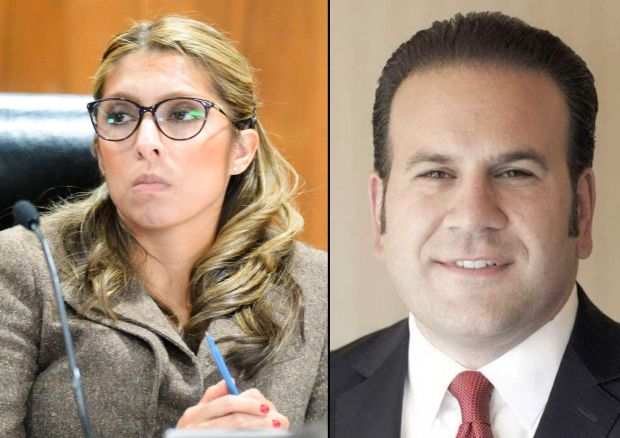 Montebello Mayor Vanessa Delgado, left. Montebello Councilman Jack Hadjinian. (File photos, Whittier Daily News)