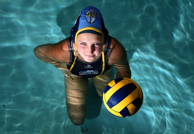 Rylee Williams at Los Osos High School in Rancho Cucamonga, CA., Tuesday, April 3, 2018. Williams has been chosen as the Inland Valley Daily Bulletin girls water polo player of the year. (Staff photo by Jennifer Cappuccio Maher, Inland Valley Daily Bulletin/SCNG)