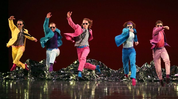 "The Mark Morris Dance Group combines new arrangements of songs from the Beatles' ""Sgt. Pepper's Lonely Hearts Club Band"" with six new compositions inspired by the album. The company uses that soundtrack to create a colorful new piece that brims with musicality, wit and humanity. The work will be performed June 14-15, 2019 at the Segerstrom Center for the Arts. (Photo by Gareth Jones)"