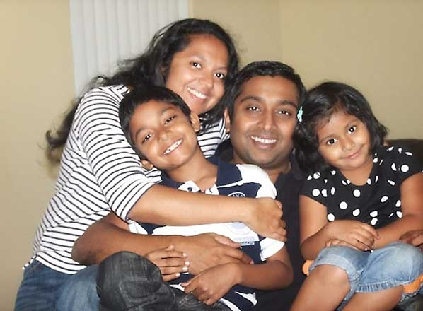 Soumya and Sandeep Thottapilly, seen with children Siddhant and Saachi, were reported missing by a relative. The Valencia family was traveling from Oregon to San Jose. Relatives lost contact with the family on April 5, 2018, they said. (Courtesy photo)
