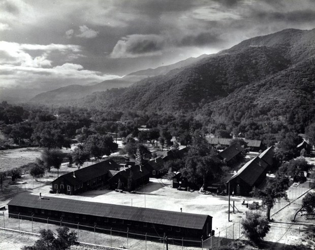 View of Tuna Canyon detention Center. Photo courtesy of Merrill H. Scott Family
