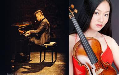 Qian Zhou plays violin and Ning An plays piano April 13 at Meng Concert Hall. (Photos courtesy of Cal State Fullerton)