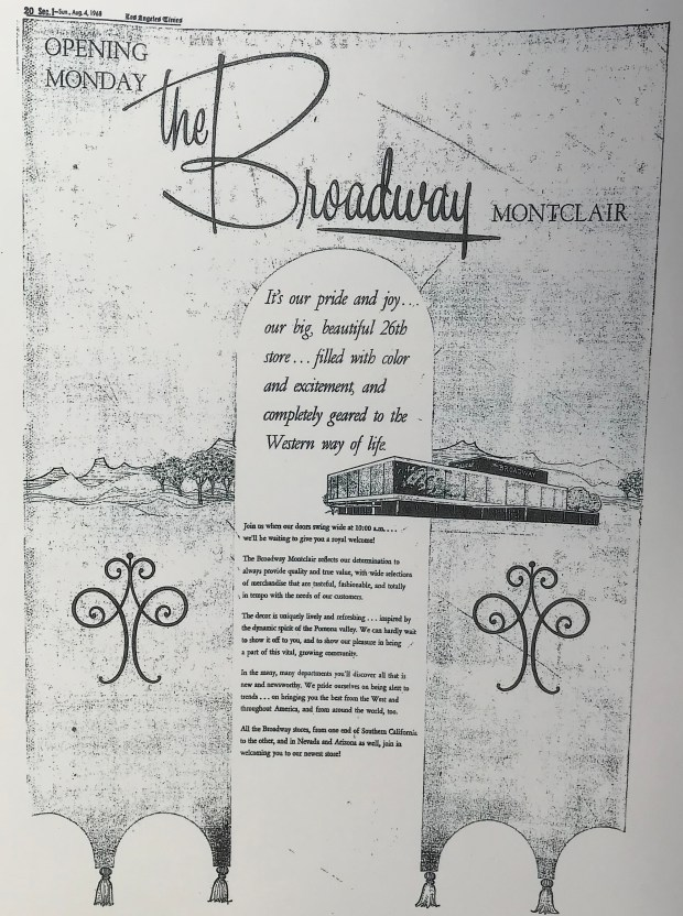 This newspaper advertisement appeared the day before The Broadway's Aug. 5, 1968 opening. (Courtesy photo)