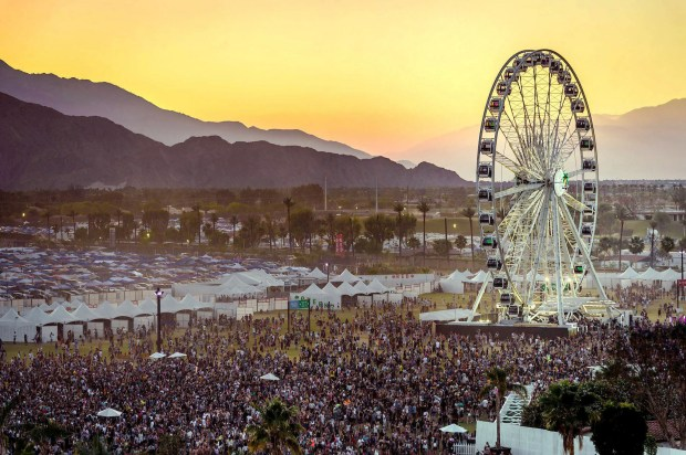 The ferris wheel during dusk at Coachella Valley Music and Arts Festival at the Empire Polo Club in Indio, Calif. on Friday, April 20, 2018. (Photo by Watchara Phomicinda, The Press-Enterprise/SCNG)