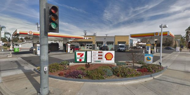 The masked man who robbed this 7-Eleven on Valley View Street and Orange Avenue in Cypress about 1 a.m. Wednesday, April 25, 2018, may have later robbed another 7-Eleven in Anaheim. (Google Street View)