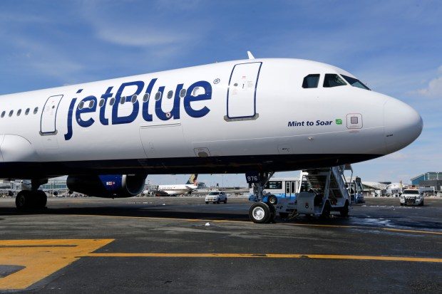 JetBlue dropped Ontario International Airport from its network in 2008, when it ceased offering daily flights to John F. Kennedy Airport in New York City. The airline blamed high fuel prices when it announced that decision nearly 10 years ago. (AP Photo/Seth Wenig, File)