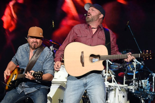 Garth Brooks performs on the Mane Stage in front of approximately 75,000 fans as he closes out the final night of the Stagecoach Country Music Festival Sunday night April 29, 2018 in Indio, Calif. (Photo by Will Lester- The Press-Enterprise/SCNG)