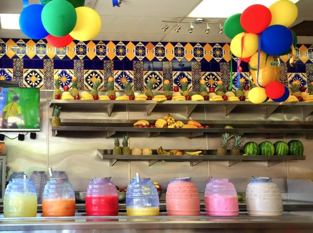 Tortas Sinaloa in Santa Ana offers a variety of freshly made aguas frescas. (Photo by Brad A. Johnson, Orange County Register/SCNG)