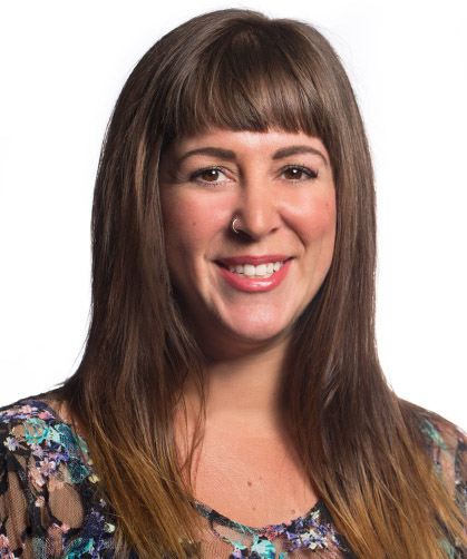Chelsea Reynolds is an assistant professor of communications at Cal State Fullerton, where she teaches courses in journalism and digital media. (Photo courtesy of Cal State Fullerton)
