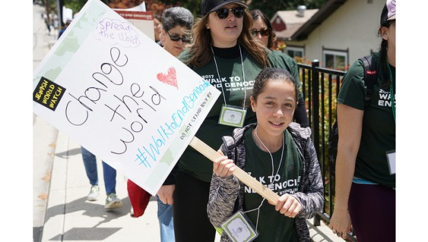 Jewish World Watch holds Walk to End Genocide marches in Pan Pacific Park in Los Angeles, on April 22, and one beginning at Thousand Oaks Civic Arts Plaza, on May 6. (Photo courtesy of Jewish World Watch)