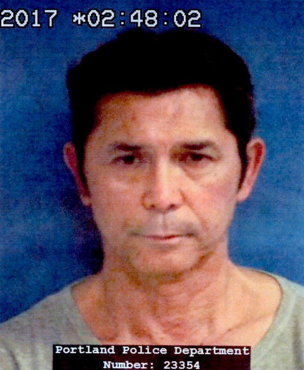 "Actor Lou Diamond Phillips has been banned from drinking alcohol for two years after pleading guilty to driving while intoxicated in Texas. Phillips, who starred in ""La Bamba,"" was also sentenced to two years of probation during a court appearance Wednesday, April 4, 2018, near Corpus Christi, where he grew up. He is seen above in a booking mug provided by the Portland Police Department. (Portland Police Department via AP)"