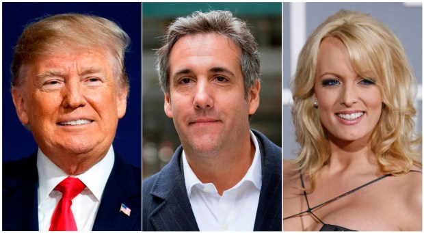 Attorneys for President Donald Trump and the president's personal attorney Michael Cohen are slated to be in an LA court Friday, April 20, 2018 to seek a delay in adult film actress Stormy Daniels' lawsuit in which she is asking to be freed from a non-disclosure agreement regarding her alleged affair with Trump in 2006. (AP Photo)
