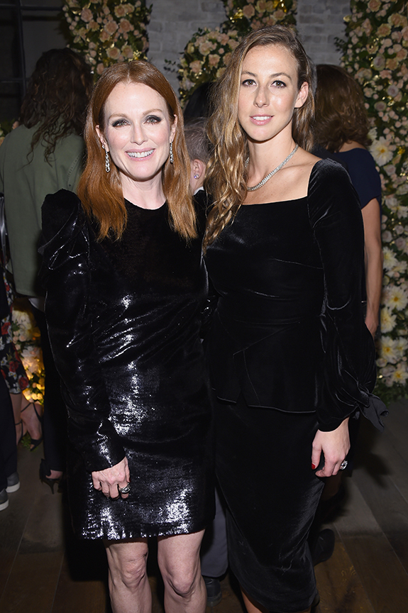 John Hardy brand ambassador Julianne Moore with creative director Hollie Bonneville Barden.