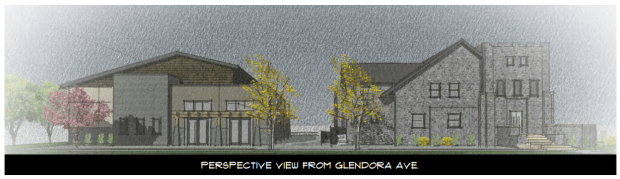 Rendering of Glendora Cornerstone Bible Church's proposed expansion. (Courtesy of city of Glendora)