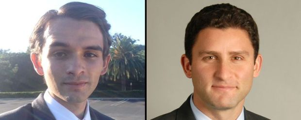 Republican Justin Clark, left, and Democrat Jesse Gabriel, right, are facing off in a June 5, 2018 runoff for State Assembly District 45. (Courtesy photos)