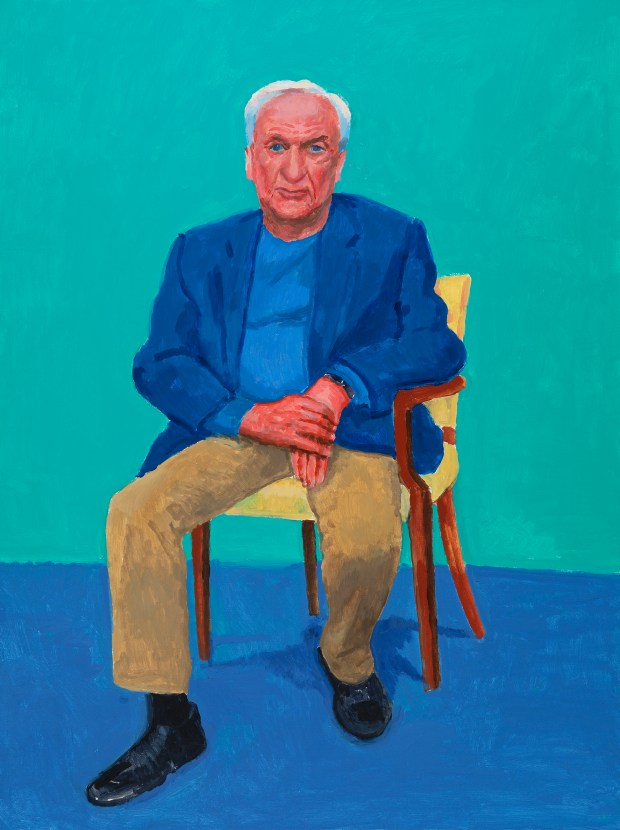 Frank Gehry (Courtesy of David Hockney, photo by Richard Schmidt)