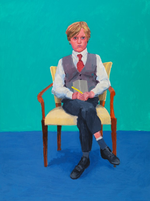"Rufus Hale is featured in ""82 Portraits and 1 Still-life"" at the Los Angeles County Museum of Art from April 15 through July 29. (Courtesy of the artist David Hockney, photo by Richard Schmidt)"