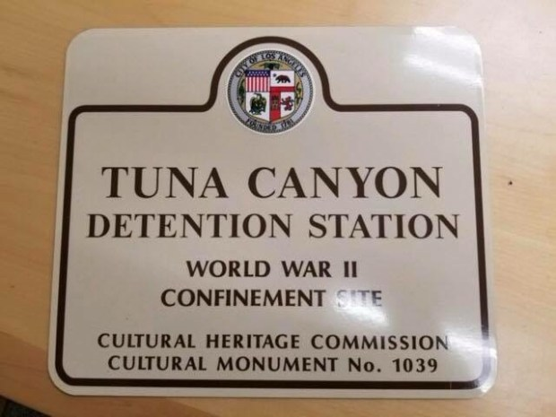 "An example of signage designating an area of Tujunga where people deemed a ""criminal threat"" to the United States during World War II were detained. (Courtesy)"