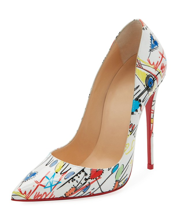 Christian Louboutin channels his artsy side with these bold So Kate Loubitag red sole pumps. $775Christian Louboutin South Coast Plaza, 714.754.9200 :: christianlouboutin.com :: southcoastplaza.com