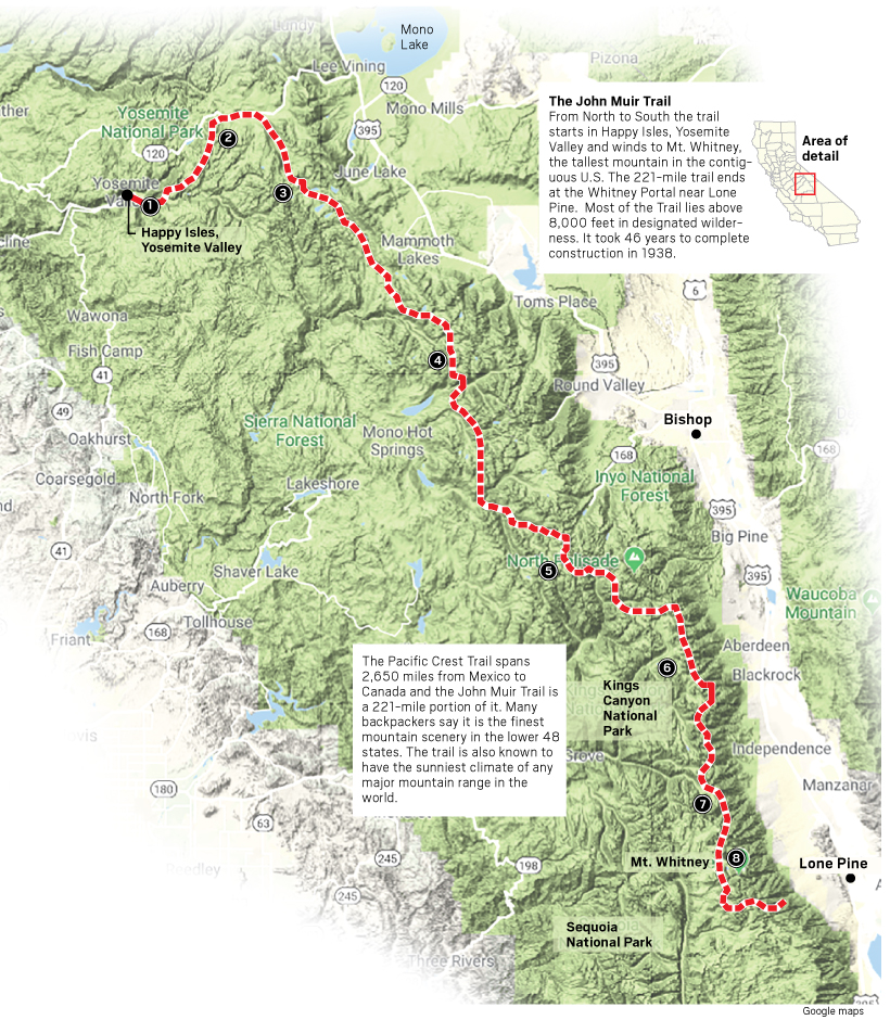 It's John Muir's 180th birthday, so here's some facts about his trail and Yosemite