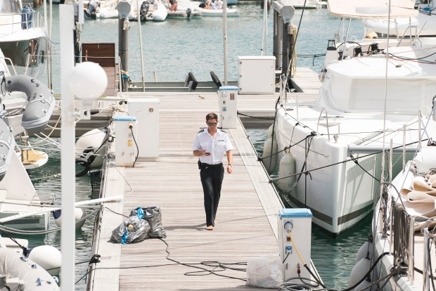 """A scene from """"Below Deck"""" with cast member Nico Scholly. (Photo by: Virginia Sherwood/Bravo)"""