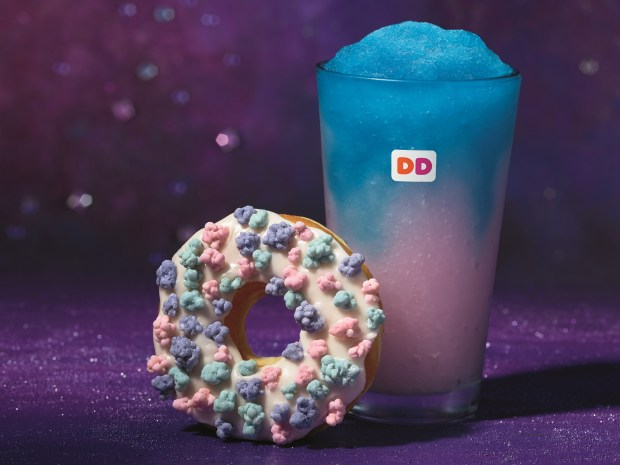 Dunkin' Donuts' Comet Candy Donut is topped with popping candy.